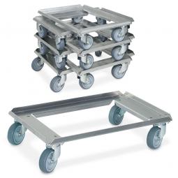Roller-SPARPAKET  VE = 7 Stück, aus Aluminium, für Euro-Stapelbehälter 600x400 mm