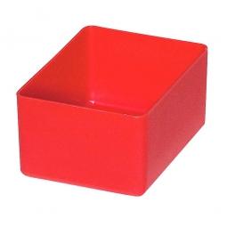 Einsatzkasten für Schubladen, rot, LxBxH 106x80x54 mm, Polystyrol-Kunststoff (PS)