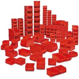 100-teiliges Sichtboxen-Set PROFI, PP, rot, XXL-Set 1