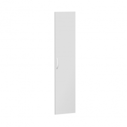 Flügeltür FLEX für 5 Ordnerhöhen, lichtgrau, Breite 400 mm, mit Metallscharnieren und Türdämpfern