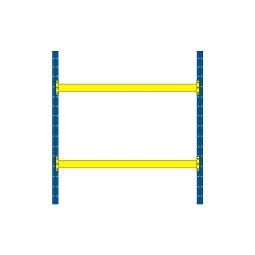 Palettenregal mit 2 Paar Tragbalken für 9 Europaletten, Tragkraft 1800 kg/Tragbalkenpaar, BxTxH 2925 x 1100 x 3000 mm