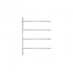 Aluminium-Anbauregal mit 4 geschlossenen Regalböden, Stecksystem, BxTxH 1375 x 600 x 1800 mm, Nutztiefe 540 mm