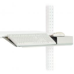 Tastaturträger mit Mausfläche, BxT 690x227 mm, lichtgrau