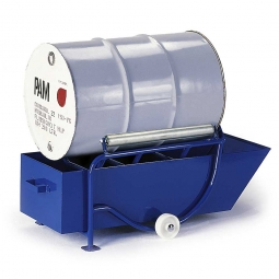 Fasskipper mit 208 Liter Auffangwanne, LxBxH 800 x 730 x 680 mm, Tragkraft 250 kg