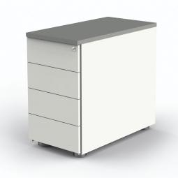 """Anstell-Container """"BUDGET"""" BxT 430x800 mm, höhenverstellbar, weiß/lichtgrau"""
