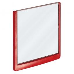 Türschild aus ABS-Kunststoff mit aufklappbarem Sichtfenster, BxH 149x148,5 mm, rot