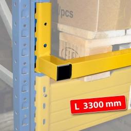 Durchschubsicherung für 3300 mm Feldweite, Inkl. 2 Sicherungsstiften und 2 Abdeckkappen