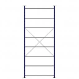 Ordner-Steck-Grundregal, einseitige Ausführung, HxBxT 3000x1270x315 mm, Oberfläche kunststoffbeschichtet