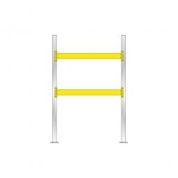 Palettenregal für 6 Europaletten, Tragbalkenebenen mit 38 mm Spanplattenböden, Fachlast 2200 kg/Tragbalkenpaar, BxTxH 2025x1100x3000 mm