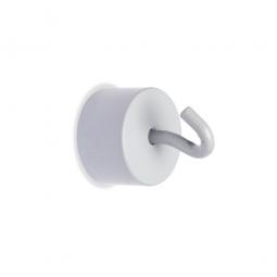 Haftmagnete mit Haken, weiß, Haftkraft 16 kg, Ø 25 mm