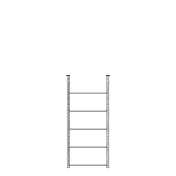 Ordnerregal mit 5 Böden, kunststoffbeschichtet, Schraubsystem, BxTxH 750 x 300 x 1850 mm