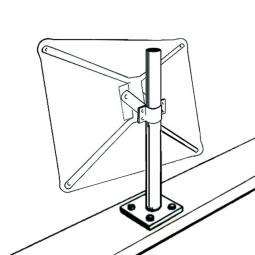 Mauerpfosten für Verkehrsspiegel, H 1200 mm, Montage an waagerechten Flächen, verzinkt