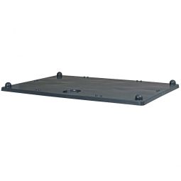 Stapeldeckel für Palettenboxen, LxB 1200 x 800 mm, dunkelgrau