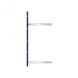 Kragarm-Anbauregal, leichte Ausführung, doppelseitige Nutzung, BxTxH 1060 x 2x400 x 2480 mm, Gesamttragkraft 2200 kg