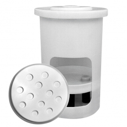 Siebboden für Salzlösebehälter, 400 Liter, Außen-Ø 770 mm, natur-transparent