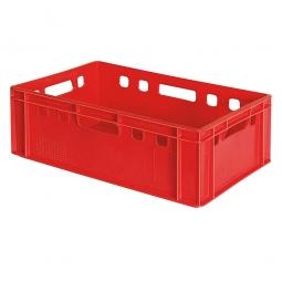 Eurobehälter E2, 4 Durchfassgriffe, LxBxH 600 x 400 x 200 mm, 40 Liter, rot