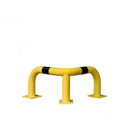 Eck-Schutzbügel, HxBxT 350 x 600 x 600 mm, Hoch belastbarer Schutzbügel aus Gütestahl für den Inneneinsatz