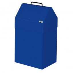 Wertstoffsammler, stationär, Inhalt 45 Liter, BxTxH 330x310x640 mm, enzianblau