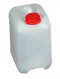 Kanister, 5 Liter, LxBxH 188 x 143 x 232 mm, Halsweite 40 mm, naturweiß
