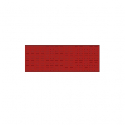 System-Schlitzplatte BxHxT 1200x450x18 mm, Aus 1,25 mm Stahlblech, kunststoffbeschichtet in verkehrsrot