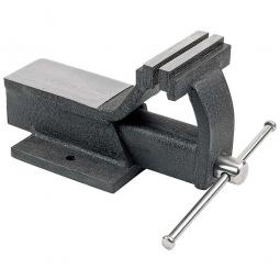 Parallel-Schraubstock, Backenbreite 125 mm mit großer Amboß-Arbeitsplatte und gehärteten Spannbacken