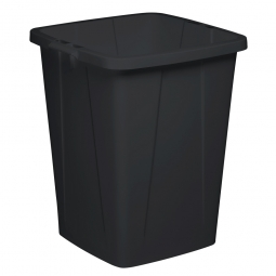 Abfall- und Wertstoffbehälter, eckig, 90 Liter, BxTxH 520x490x610 mm, schwarz