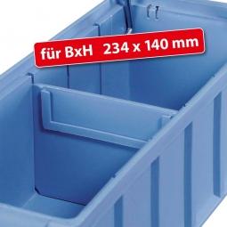 Querteiler für Regalkästen FUTURA, BxH 234 x 40 mm, blau