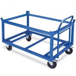 Fahrgestell für Euro-Paletten, Gitterboxen und Behälter, hohe Ausführung, Tragkraft 350 kg, LxBxH 1220 x 820 x 750 mm