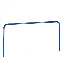 Aufsteckbügel, LxH 1705x600 mm, Stahlrohr-Ø 27 mm, Farbe blau