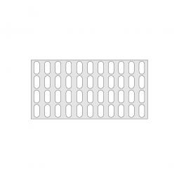 Gitterregalboden aus Kunststoff (Polystyrol), BxT 1150 x 580 mm, bestehend aus 2 Bodensegmenten