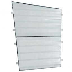 1x Trapezblech-Seitenwand, rechts, für universelle Überdachung TxH 2330 x 2250 mm