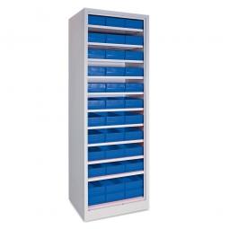 Regal mit Regalkästen blau, LxBxH 400 x 183 x 81 mm
