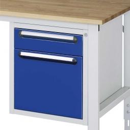 Unterbau-Container für Arbeitstisch, BxTxH 490x600x545 mm, mit 2 Schubladen
