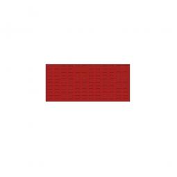 System-Schlitzplatte BxHxT 1000x450x18 mm, Aus 1,25 mm Stahlblech, kunststoffbeschichtet in verkehrsrot