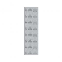 System-Schlitzplatte BxHxT 450x1500x18 mm, Aus 1,25 mm Stahlblech, kunststoffbeschichtet in lichtgrau