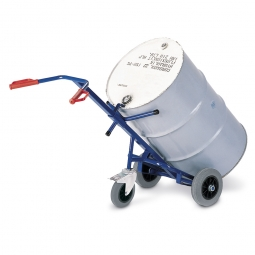 Fasskarre mit Vollgummibereifung, BxH 700 x 1600 mm, 1 Stützrad, Tragkraft 250 kg