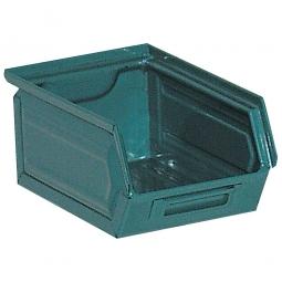 Sichtbox SB7 aus Stahlblech, 3,5 Liter, LxBxH 230/200 x 140 x 130 mm, blaugrün
