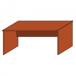 Schreibtisch mit geschlossenen Seitenwangen, Platte Kirsche, BxTxH 800 x 800 x 720 mm
