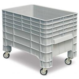 Volumenbox mit 4 Lenkrollen, 276 Liter, LxBxH 1030 x 630 x 790 mm, grau