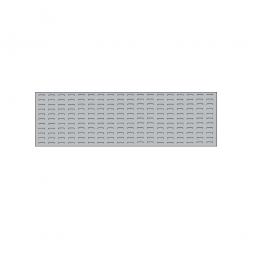 System-Schlitzplatte BxHxT 1500x450x18 mm, Aus 1,25 mm Stahlblech, kunststoffbeschichtet in lichtgrau