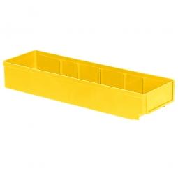 Regalkasten, gelb, LxBxH 500x152x83 mm, Polystyrol-Kunststoff (PS), Gewicht 375 g