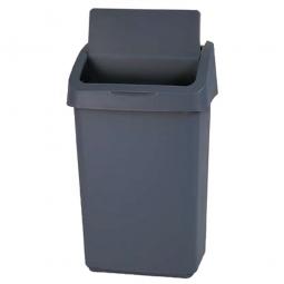 Abfallbehälter mit Schwingdeckel, 50 L, grau, LxBxH 406x341x668 mm