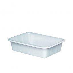 Kunststoffwanne mit umlaufendem U-Rand, 25 Liter, LxBxH 610 x 440 x 150 mm, weiß