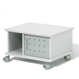 Beistellwagen für schwere Lasten bis 100 kg, lichtgrau, BxTxH 750x600x430 mm