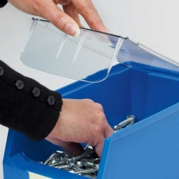 Staubdeckel für Sichtbox PROFI LB3+LB3T, transparent, LxBxH 315x192x3 mm, VE=10 Stück