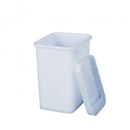 Vorratsbehälter mit Deckel, PE-HD, LxBxH 170 x 140 x 210 mm, 3 Liter, weiß