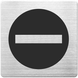 """Hinweisschild """"Durchgang verboten"""", Edelstahl, HxBxT 90x90x1 mm"""