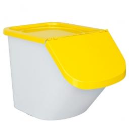 Zutatenbehälter / Zutatenspender, 40 Liter, LxBxH 610 x 430 x 450 mm, weiß/gelb