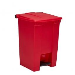Tret-Abfallbehälter, 68 Liter, rot, BxTxH 500x410x675 mm