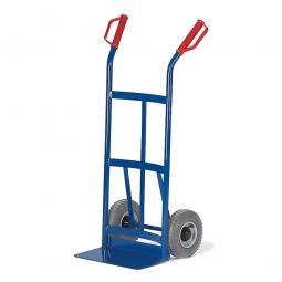 Stahlrohrkarre mit Vollgummibereifung, Höhe 1050 mm, Tragkraft 200 kg